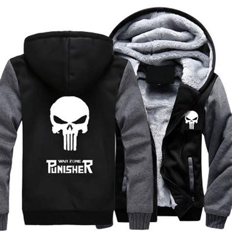Jaket Zipper Hoodie Sweater Punisher Hitam 3 popular punisher hoodie buy cheap punisher hoodie lots from china punisher hoodie suppliers on