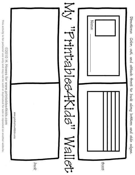 Paper Wallet Template by Money Coloring Pages For Preschool Paper Wallet Template
