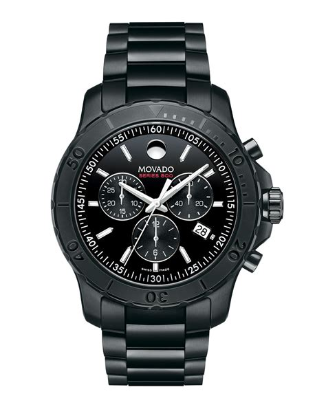 Sweater Steel Series Black movado series 800 chronograph in black for lyst