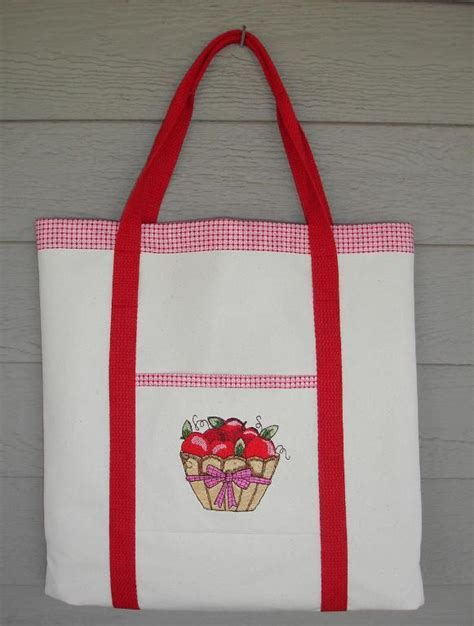 embroidered tote bag pattern embroidered tote pockets free pdf tutorial