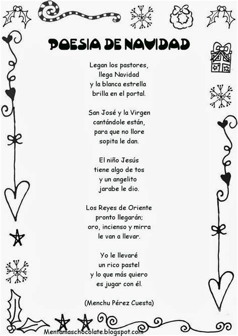 poesia alucivo a un jardin de inicial esos locos bajitos de infantil poesias de navidad
