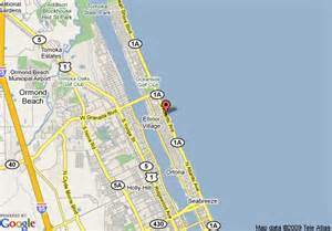 ormond florida map map of comfort inn on the ormond