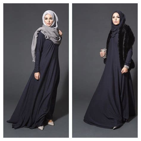 Trend Baju Gamis Ilma Maxi Black Grey 1000 images about muslimah fashion on hijabs