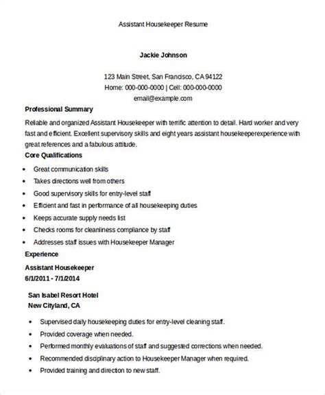 housekeeper resume resume templates apartment housekeeper cover letter entry level housekeeping
