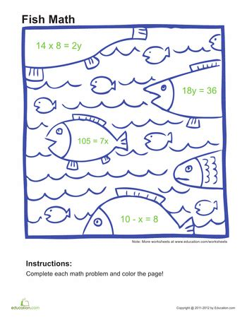 Order Of Operations Coloring Worksheet by Algebra Coloring Pages Education