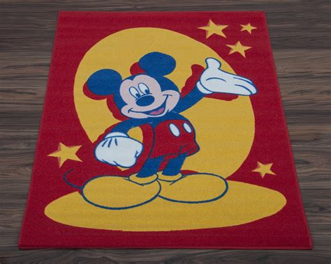 disney rugs official disney children s rug non slip play mat mickey mouse 95cm x 133cm ebay
