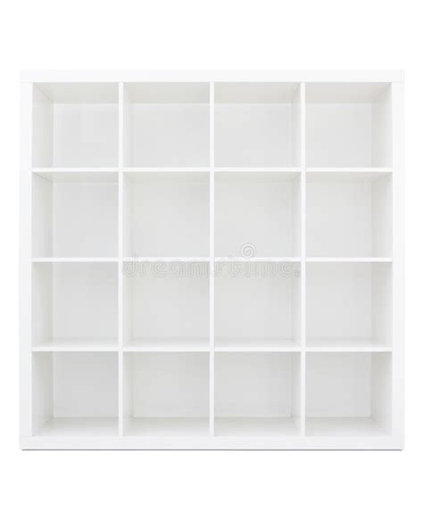 scaffale per libri scaffale per libri di legno bianco vuoto immagine stock