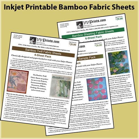 printable fabric sheets washable washable bamboo inkjet printable fabric sheets