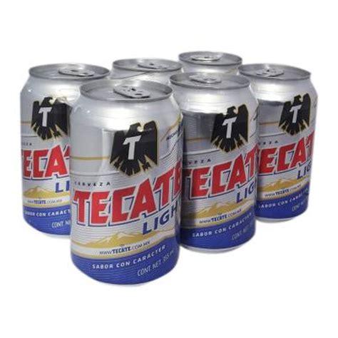 18 pack tecate light cerveza clara tecate light 6 latas de 355 ml c u