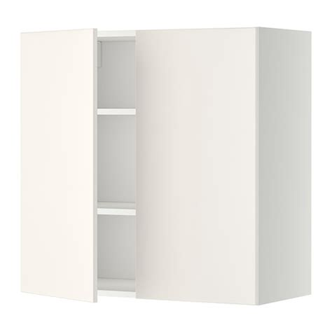 White Armoire With Shelves Metod Wall Cabinet With Shelves 2 Doors White Veddinge