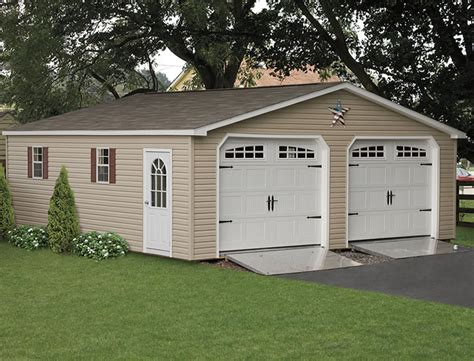 2 car garage garages 2 car garages two car garage 28 wide amish backyard structures