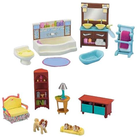 fisher price loving family doll house furniture fisher price loving family dollhouse living room and bathroom furniture set