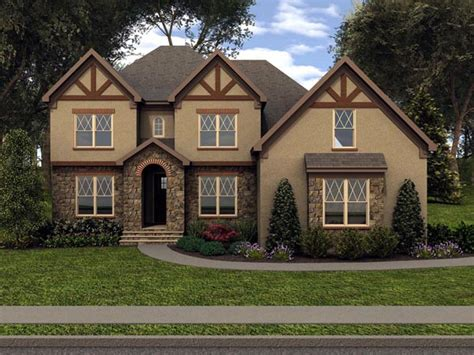 tudor house elevations house plan 53852 at familyhomeplans com