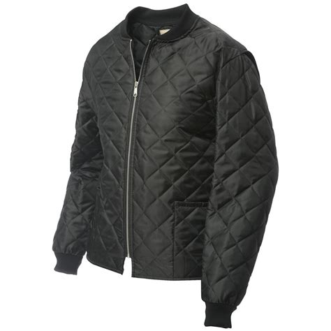 Mens Quilted Work Jackets by Work King 174 Quilted Freezer Jacket Black 424093 Insulated Jackets Coats At Sportsman S Guide