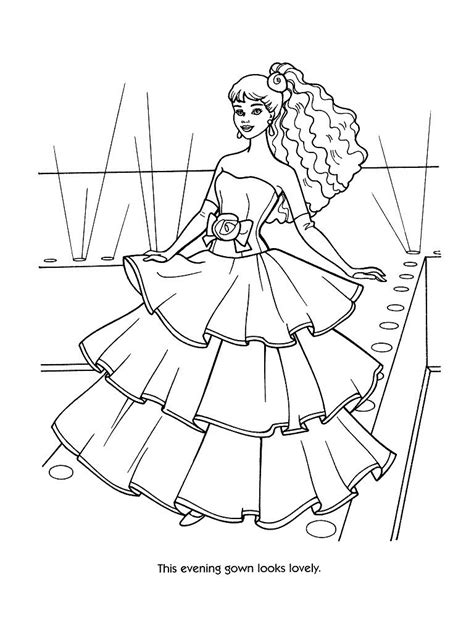 coloring pages barbie fashion coloring pages free coloring pages of fashion template