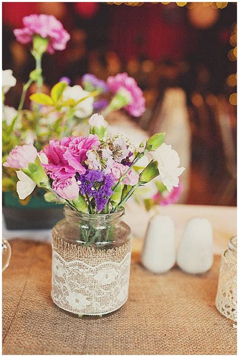 wedding table decoration ideas with jars 40 hessian wedding ideas