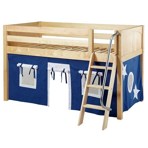 kids low loft bed kids low loft bed twin low loft w angled ladder curtains