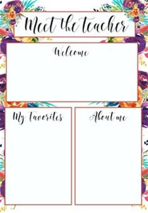 meet  teacher letter template  teaching