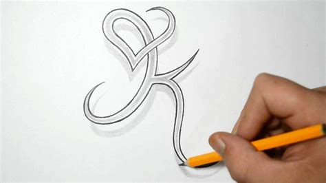 heart tattoo designs with words letter k and combined design ideas for