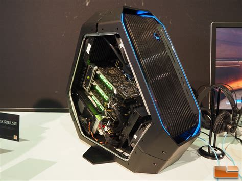 best alienware desktop for gaming alienware displays area 51 desktop gaming pc at e3 2016