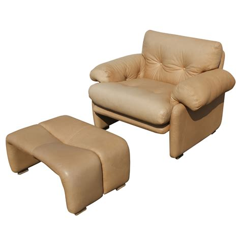 Lounge Chair Ottoman B B Italia Scarpa Leather Coronado Lounge Chair Ottoman Mr3986 Ebay