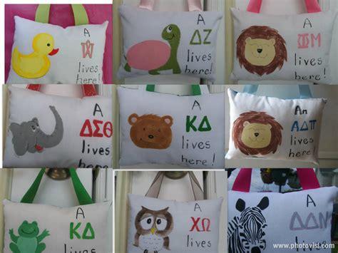 Handmade Sorority Gifts - sorority pillows letter pillow custom unique
