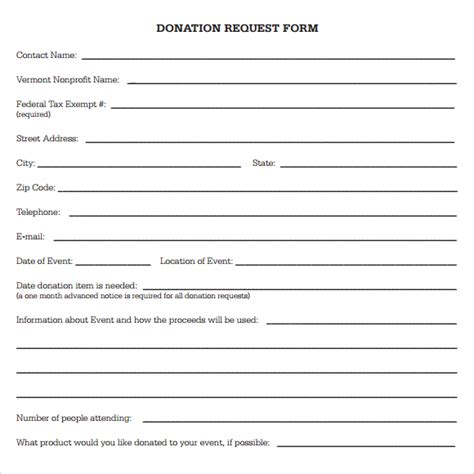 template for donation form best photos of sle donation request form template