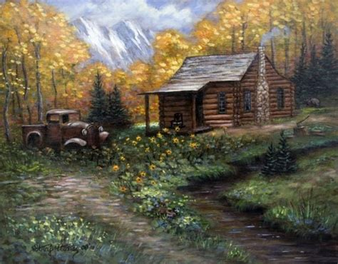 Log Cabin Paintings by National Log Cabin Day June 30