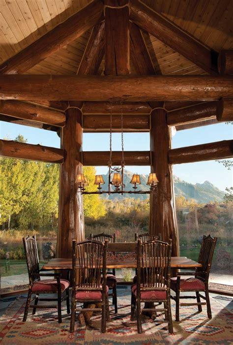 log cabin dining room 15 warm cozy rustic dining room designs for your cabin