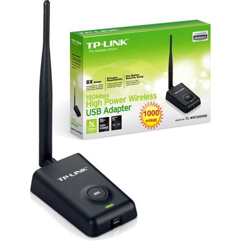 150mbps High Power Wireless Usb Adapter Tl Wn7200nd tplink tl wn7200nd 150mbps high power wireless usb adapter