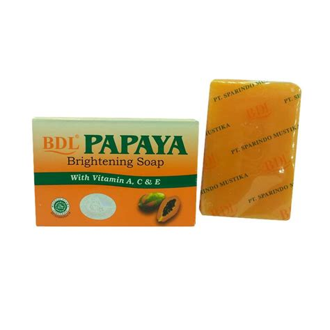 Sabun Muka Papaya Jual Papaya Whitening Soap Bdl Brightening Soap Sabun