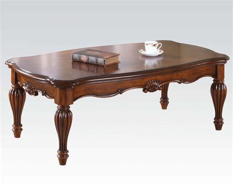 traditional coffee table dreena by acme furniture ac10290