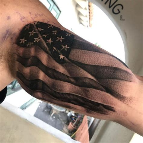 black and gray american flag tattoo 85 best patriotic american flag tattoos i usa 2018