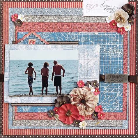 scrapbook layout with lots of pictures 633 best graphic 45 pages images on pinterest graphic 45