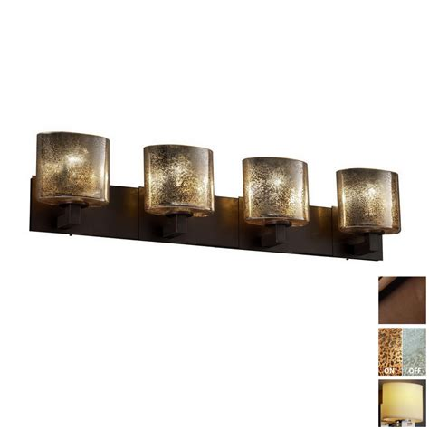 lowes bathroom vanity lighting shop cascadia lighting 4 light fusion modular dark bronze