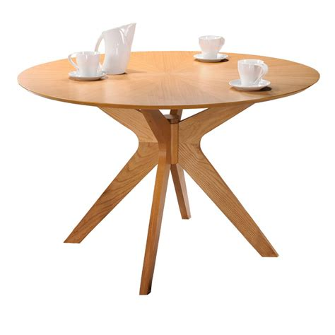 frau modern round dining table balboa modern round dining table in oak and oak round