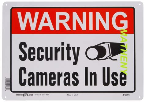 Home Security Signs by Warning Security Cameras In Use Home Surveillance