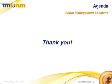 Mba Fraud Management by Tm Forum Fraud Management Activities Presented At