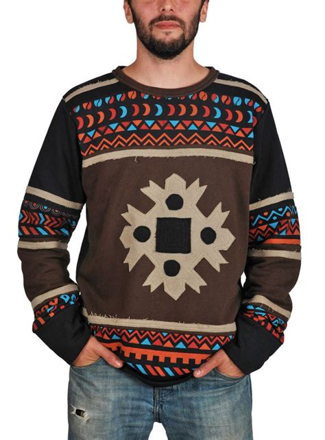 Printed Cotton Pullover clothing tribal printed cotton fleece pullover