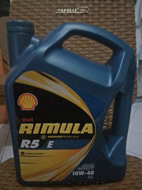 Oli Shell Hx7 10w 40 Galon 4 Liter shell rimula r5 e 10w 40 5 l 1 galon sejahtera distributor oli shell helix