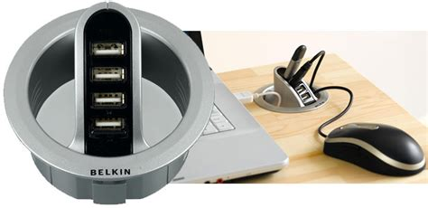 belkin in desk usb hub belkin grommet hole 4 port usb hub review everything usb