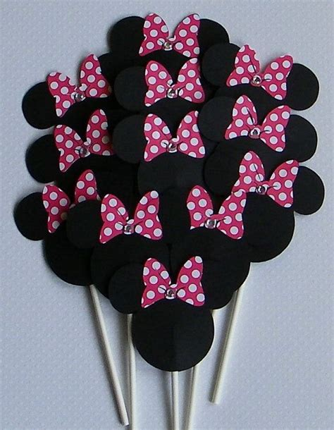 Minnie Mouse Cupcake Toppers Handmade - 25 best ideas about minnie mouse cupcake toppers on