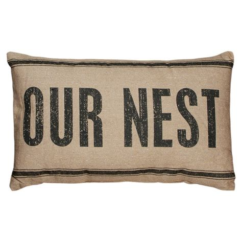 Our Nest Pillow by Our Nest Pillow Decor