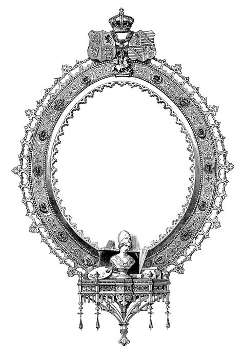 vintage clip art french label anchor round frame antique clip art ornate engraved frame the graphics fairy