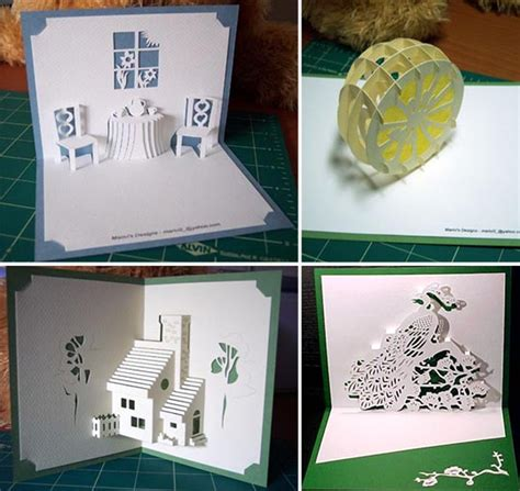 pop up greeting cards templates free diy kirigami greetings cards patterns apartment therapy