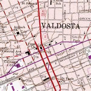 map of valdosta valdosta ga
