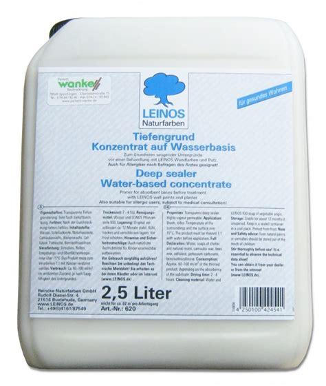 Lack Grundierung Trockenzeit by Leinos Tiefengrund 620 10 L Lacke 214 Le Grundierungen