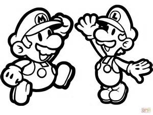 mario and luigi coloring pages paper mario and luigi coloring page free printable