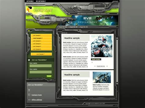 website templates for gaming clans clan template
