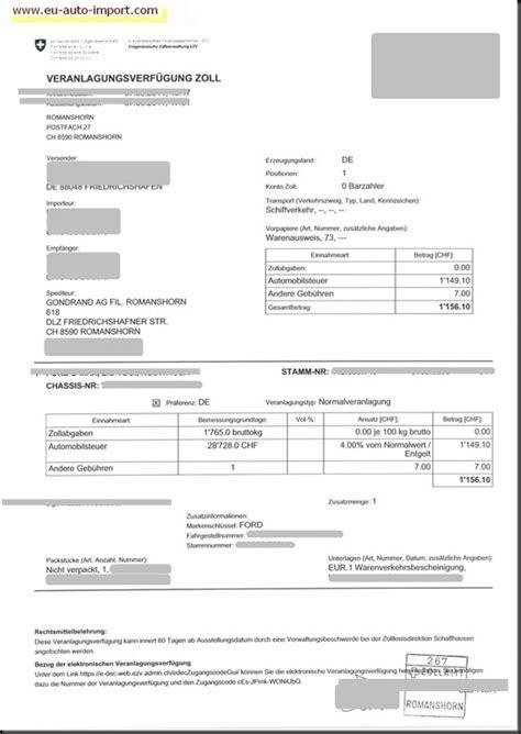 Auto Abmelden Schweiz Versicherung by Versicherung Ratgeber Eu Auto Import